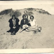 Lallie and friends on the dunes