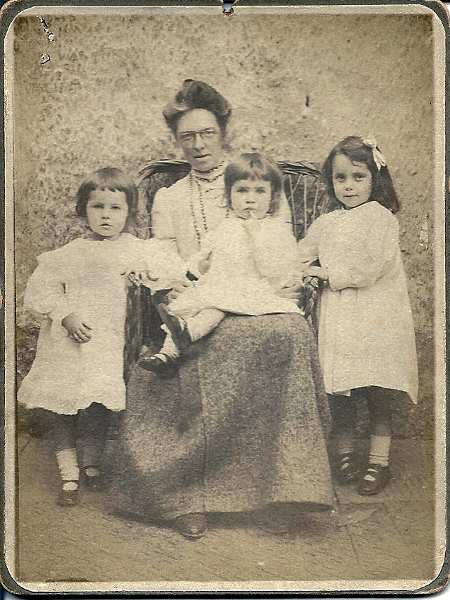 Lally with sisters Nancy and Betty, and their mother