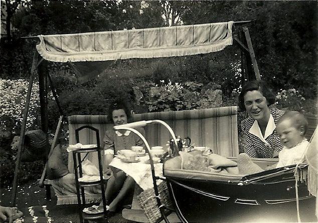 May 1943 with Elizabeth, aged six months