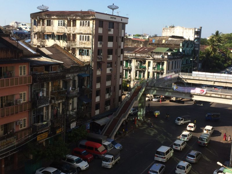 view from the Yangon Book Plaza